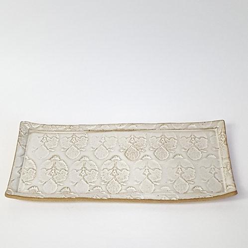 Prato retangular branco