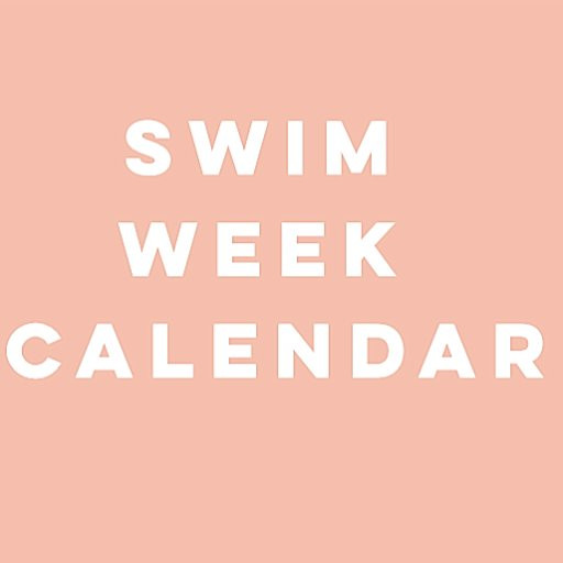 Shady Sun Swim Week Calendar