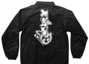 Creature X Skeleton Key Pin up Coach Windbreaker Jacket