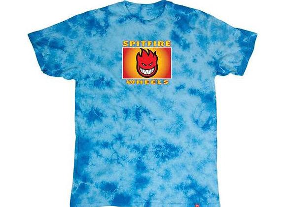 Spitfire Label Washed Tshirt Blu