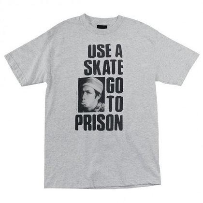 Thrasher Use a Skate go to Prison Tshirt Gry