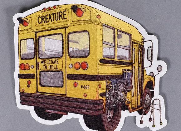 Creature 10x9cm Maniac Bus sticker