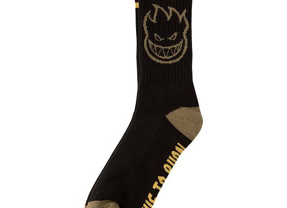 Spitfire Bighead Calf sock blk/gld/olv