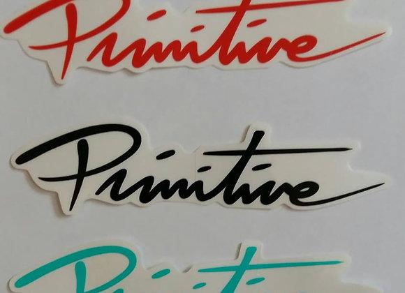 PRIMITIVE Sticker Script Logo.