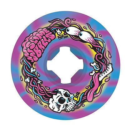 Santa Cruz 54mm 99A Brains Speed Balls Swirl Slime Balls Purp