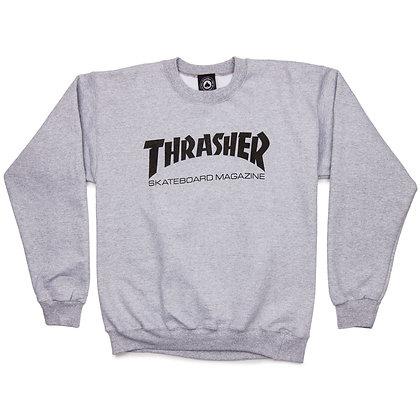 Thrasher Skate Mag Crewneck Gry