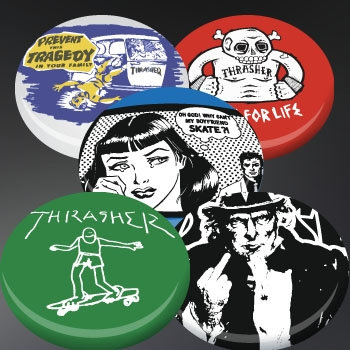 Thrasher Usual Suspect Buttons (5 pack)