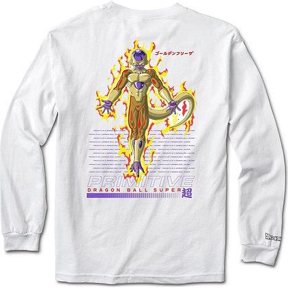 Primitive X DBS Golden Frieza Shirt LS wht
