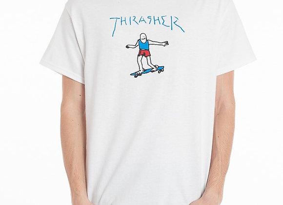 Thrasher Gonz Logo Tshirt Wht