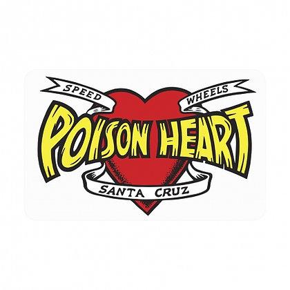 Santa Cruz Poison Heart Sticker 13cm