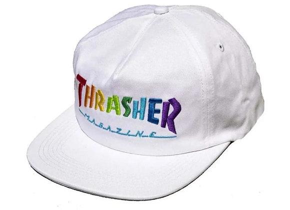 Thrasher Rainbow Mag Snapback Wht