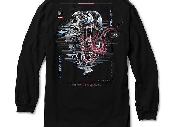 Primitive X Marvel Venom Shirt LS Blk