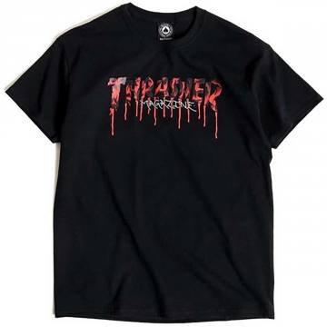Thrasher Blood Drip Tshirt Blk
