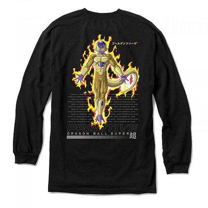 Primitive X DBS Golden Frieza Shirt LS blk