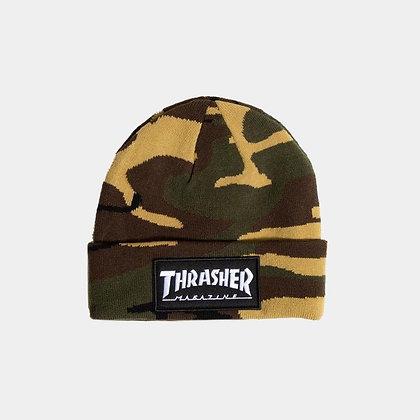Thrasher Skate Mag  Patch Beanie camo
