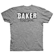 Baker Logo Dubs Tshirt Gry