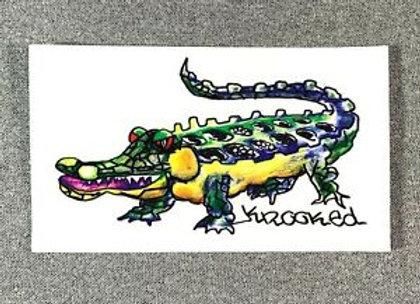 Krooked 14x8cm Gator sticker