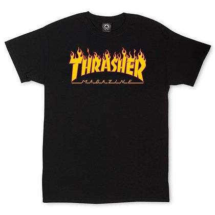 Thrasher Flame Logo Niño Tshirt Blk