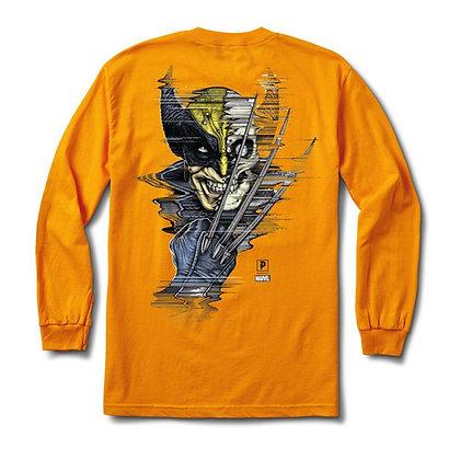 Primitive X Marvel Wolverine Shirt LS Gld