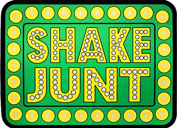 SHAKE JUNT Green Sticker 14cm x 11cm.