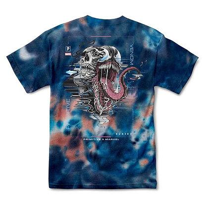 Primitive X Marvel Venom Washed Tshirt Blu