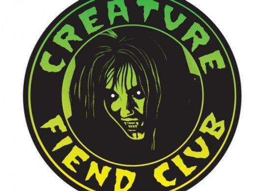CREATURE Fiend Club Sticker 4 in x 4.
