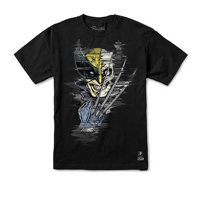 Primitive X Marvel Wolverine Vintage Oversized Tshirt Blk