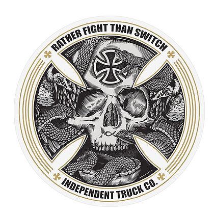 Independent FTR Skull Sticker 12cm