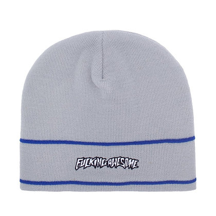 Fucking Awesome Little Stamp Stripe Cuff Beanie Gry