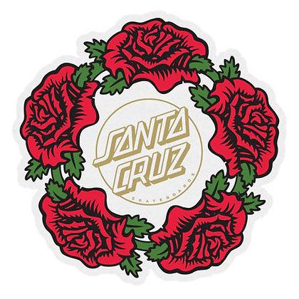 Santa Cruz Dressen Rose Ring Sticker 10cm