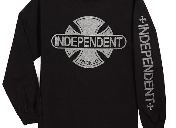 Independent Baseplate Slv Shirt LS Blk