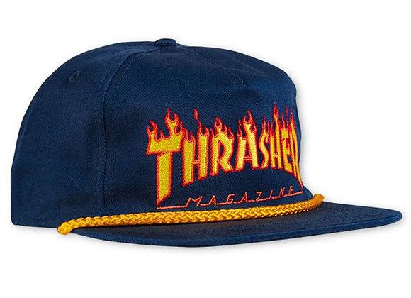 Thrasher Flame Rope Snapback Nvy