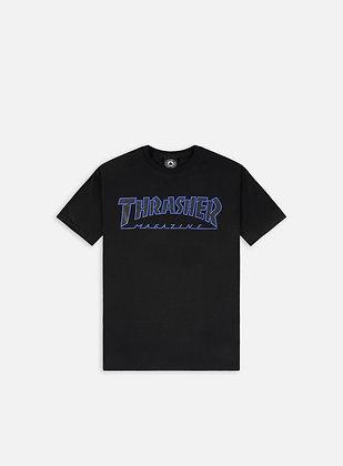 Thrasher Outlined Black Tshirt Blk