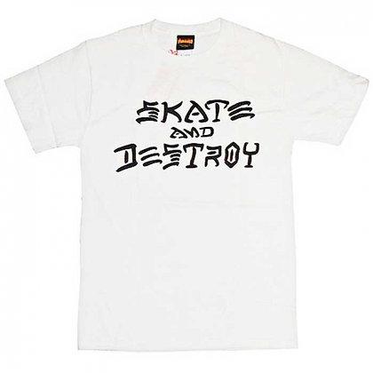 Thrasher Skate and Destroy Tshirt Wht