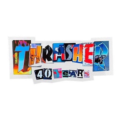 Thrasher 40 Years Sticker 15x6cm