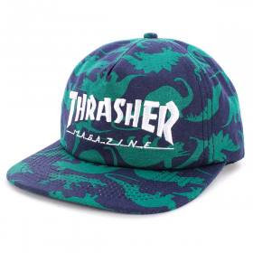 Thrasher Skate Mag Logo Dino Print Snapback