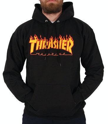 Thrasher Flame Logo Hood Blk