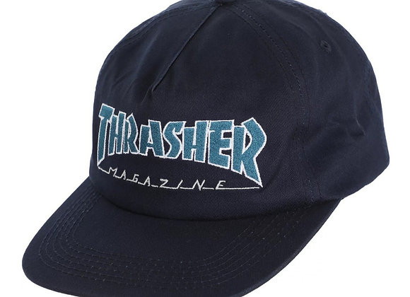 Thrasher Outlined Snapback navy/gry