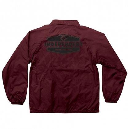 Independent Industry  Mens Coach Windbreaker Jacket Maroon.