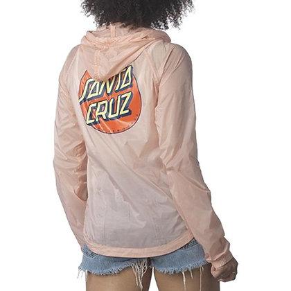 Santa Cruz Dot Sheer Windbreaker Jacket Pnk