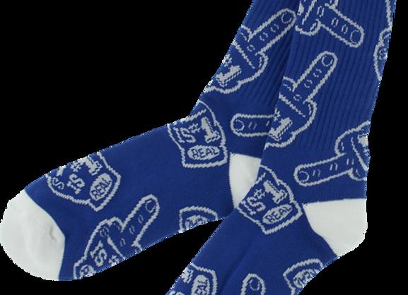 Real #1 Fan Toss socks