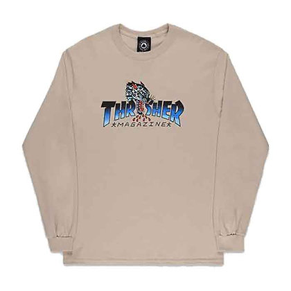Thrasher Leopard Mag Shirt LS Snd