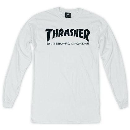 Thrasher Skate Mag Shirt LS Wht