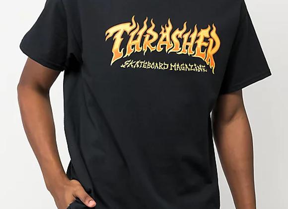 Thrasher Fire Logo Tshirt Blk