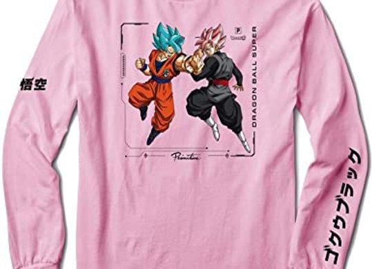 Primitive X DBS Goku Versus Shirt LS Pnk