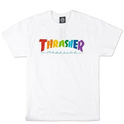 Thrasher Rainbow Mag Tshirt Wht