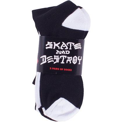 Thrasher Skate and Destroy 2 Pack Socks