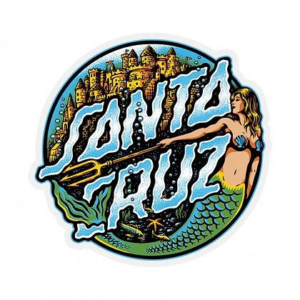 SANTA CRUZ Mermaid Dot Sticker 3.25 in x 3.125 in.