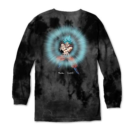 Primitive X DBS Energy Washed Shirt LS blk