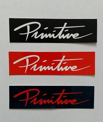 PRIMITIVE Sticker Bar Logo.